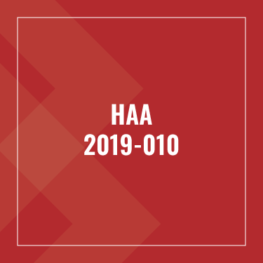 Advisory Bulletin: HAA 2019-010: Updated Documentation Requirements for Relying on Third-party Reports